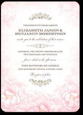 precious peonies wedding invitation