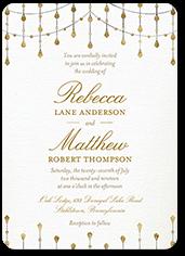 radiant sparkles wedding invitation