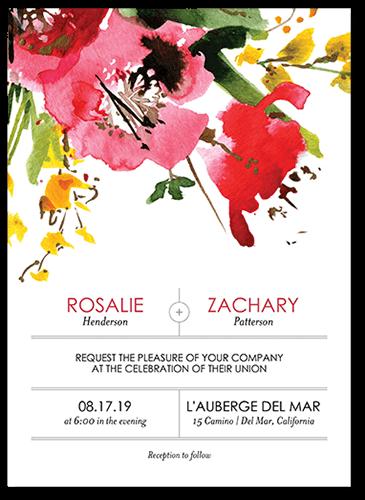 Stunning Floral Wedding Invitation