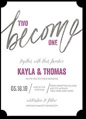 wonderful union wedding invitation