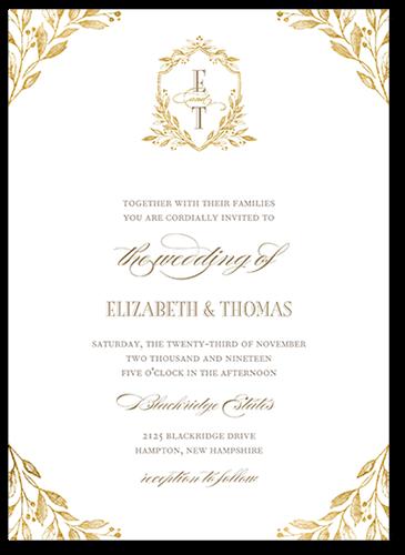 Classic Herald 5x7 Wedding Invites Shutterfly