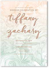 coastal hues wedding invitation