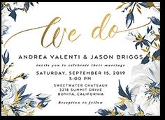 crisp petals wedding invitation