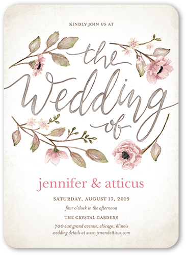 Delightful Blooms 5x7 Wedding Invitation Cards Shutterfly