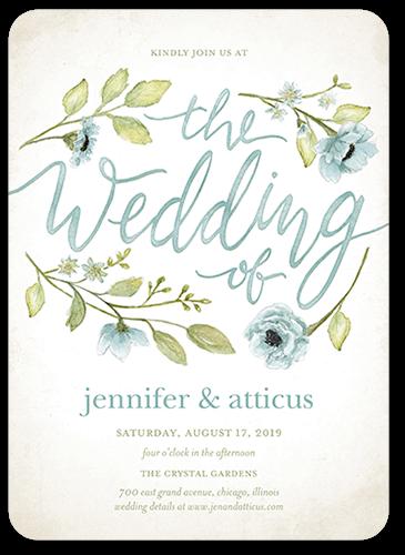 Delightful Blooms Wedding Invitation, Square