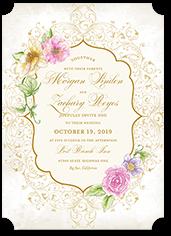 elegant enchantment wedding invitation