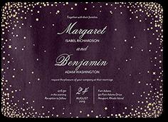 elegant sky wedding invitation