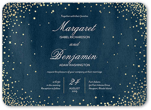 elegant sky wedding invitation - Shutterfly Wedding Invitations