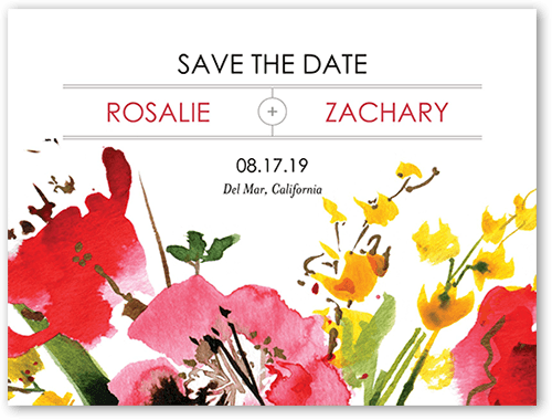 Stunning Floral Save The Date, Square