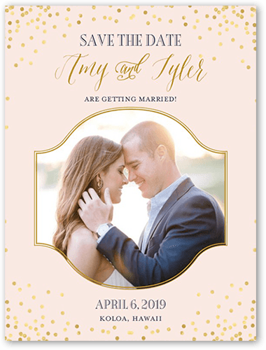 Effervescent Sparkle Save The Date