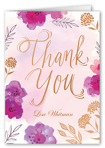 Golden Afternoon Thank You Card