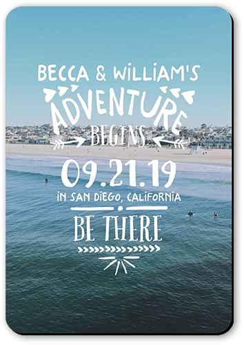Adventure Awaits Save The Date, Rounded Corners