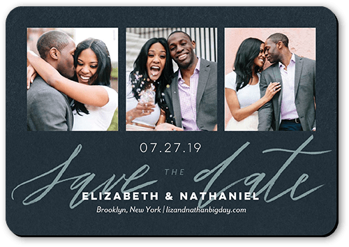 Minimal Design Save The Date, Rounded Corners