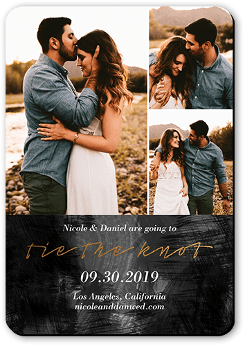 Romantic Affair Save The Date, Rounded Corners