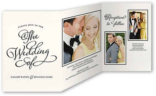 Lovely Beginning Wedding Invitation, Square