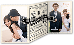 our story begins wedding invitation
