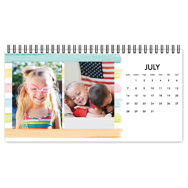 painterly patterns desk calendar