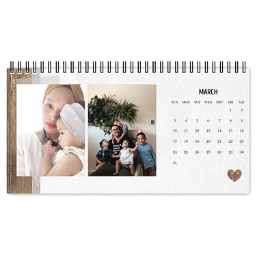 rustic farmhouse desk calendar