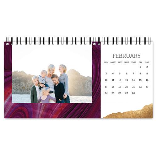 stunning marble desk calendar