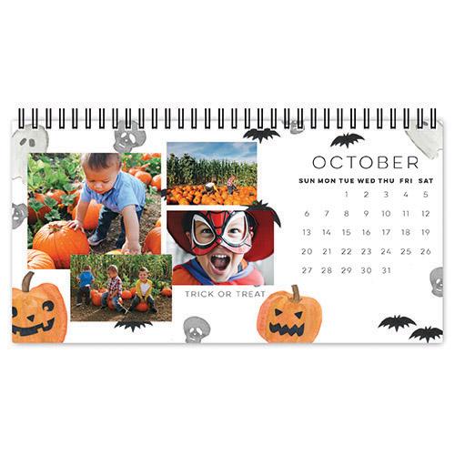 whimsical watercolor desk calendar