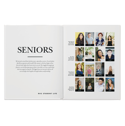 classic yearbook photo book
