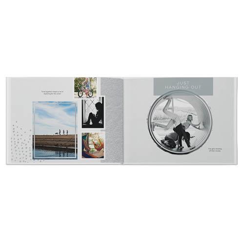 modern grey photo book