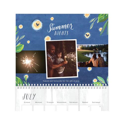 painted seasons calendar wall calendar