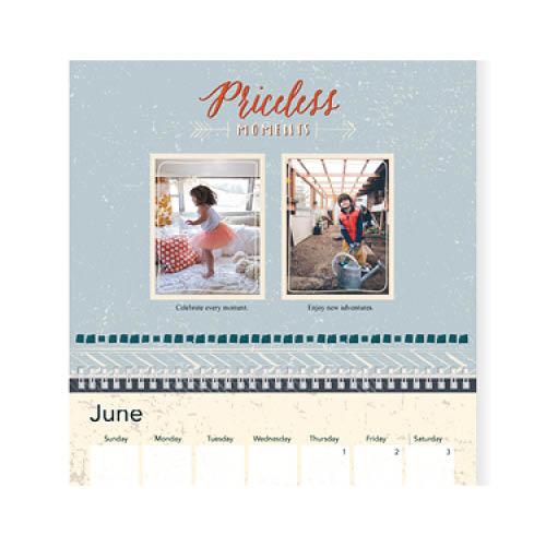 rustic textures wall calendar