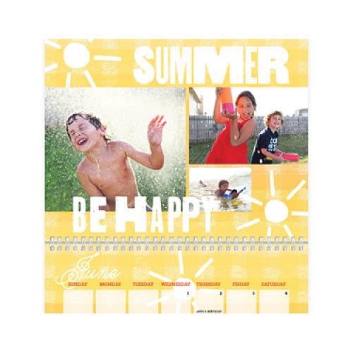 seasonal type wall calendar