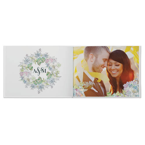 watercolor wedding photo book