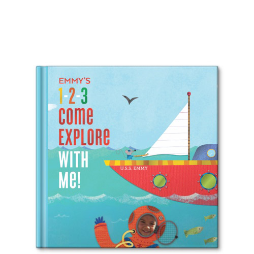 1 2 3 come explore with me personalized story book