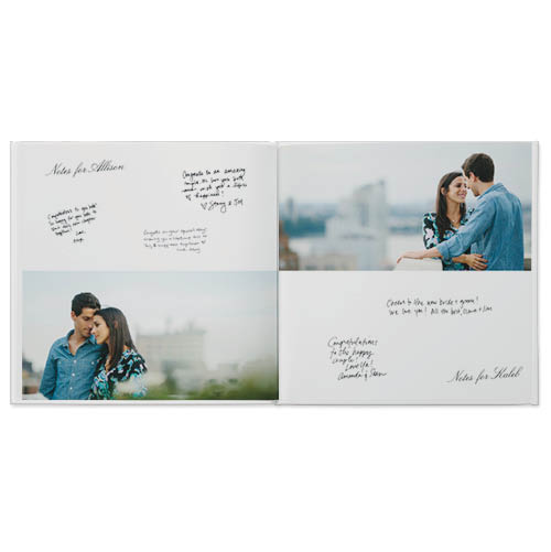 classic wedding guestbook photo book