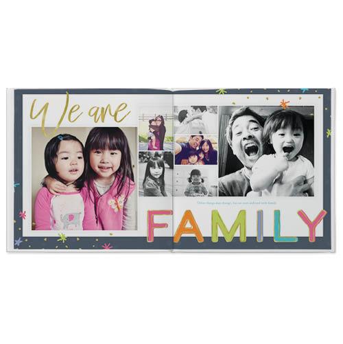 confetti family photo book