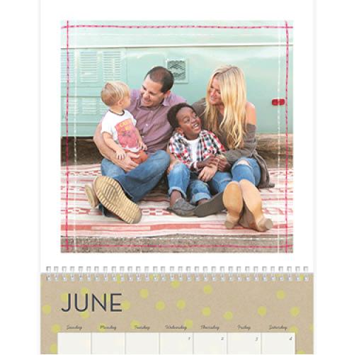 kraft pop calendar wall calendar