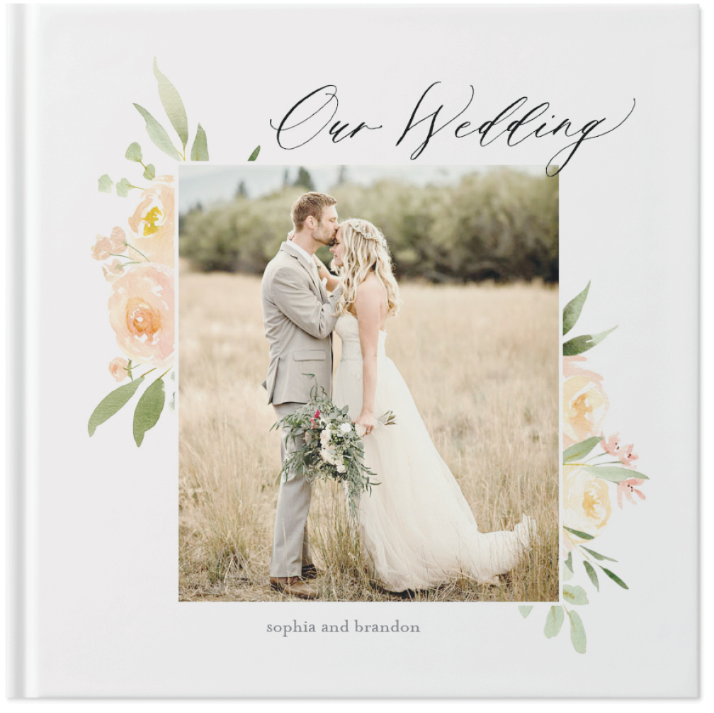 watercolor floral wedding by kim thoa photo book