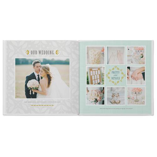 outdoor wedding photo book