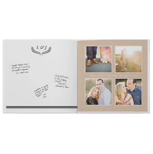 rustic wedding guestbook photo book