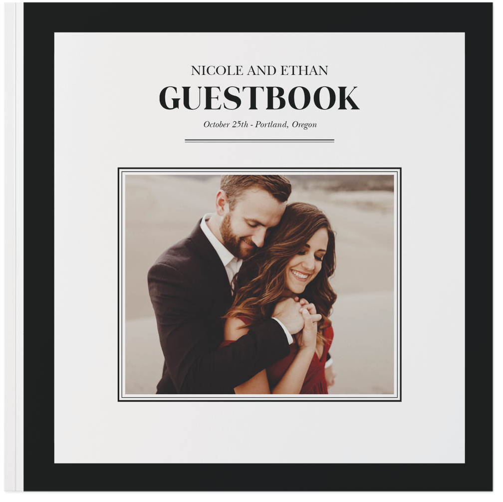 our wedding day guestbook photo book