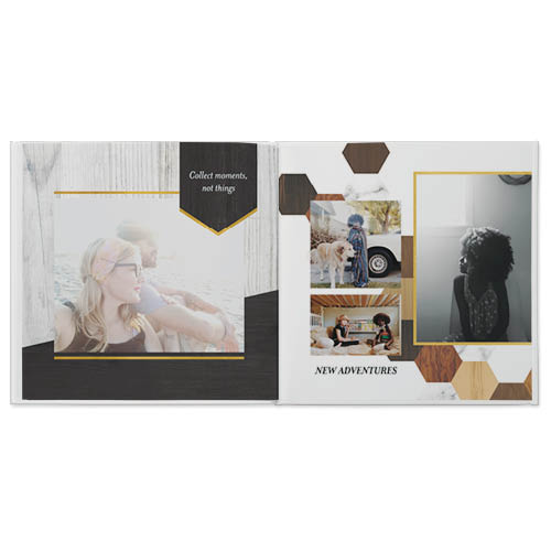 wood and marble patterns photo book