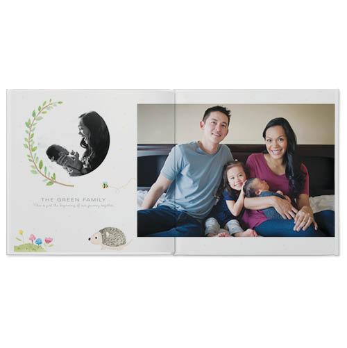 woodland baby photo book